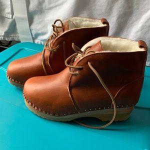 Troentorp Shearling Clog Boots, 39